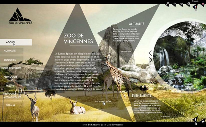 Zoo Vincennes / Webdesign / 3ème année