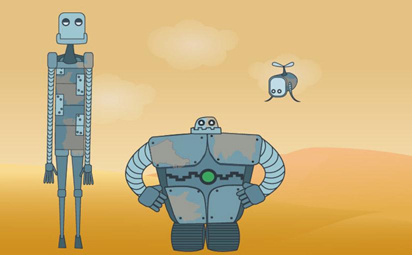 robots illustrator ICAN