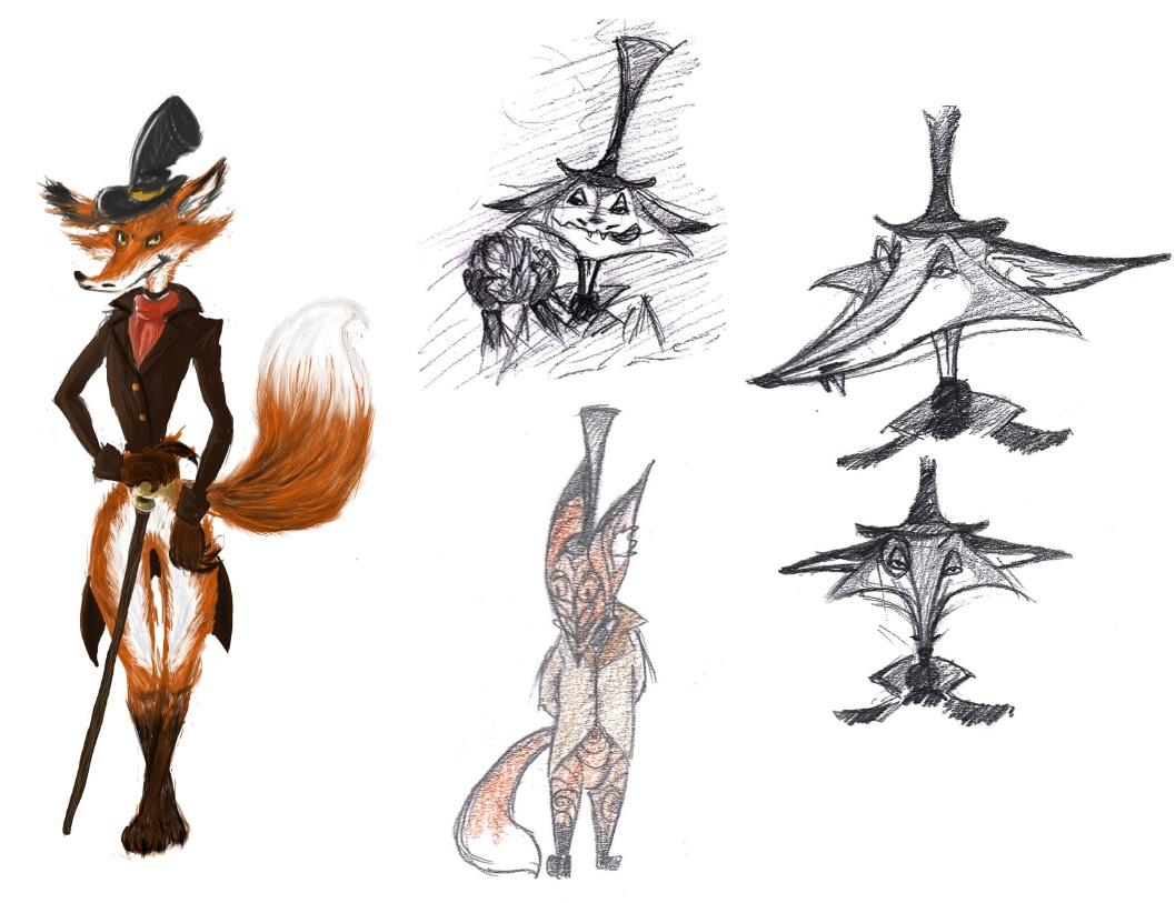 m.Renard character design