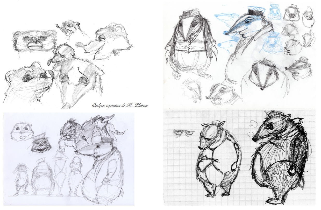 m.blaireau character design