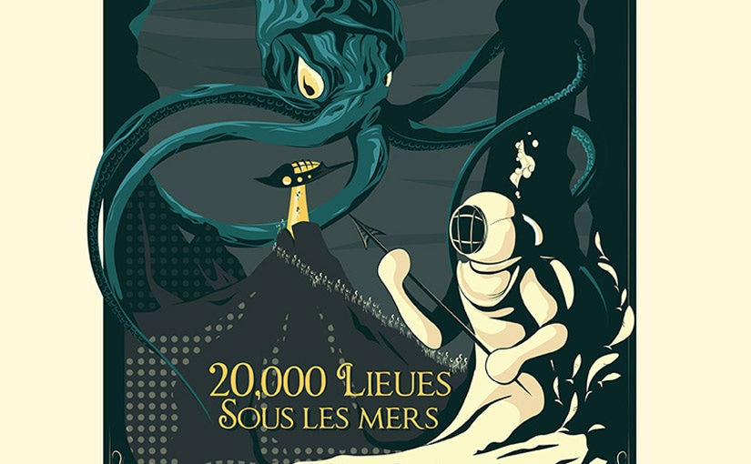 20,000 lieues sous les mers / Design 2D Illustrator / Game design 01