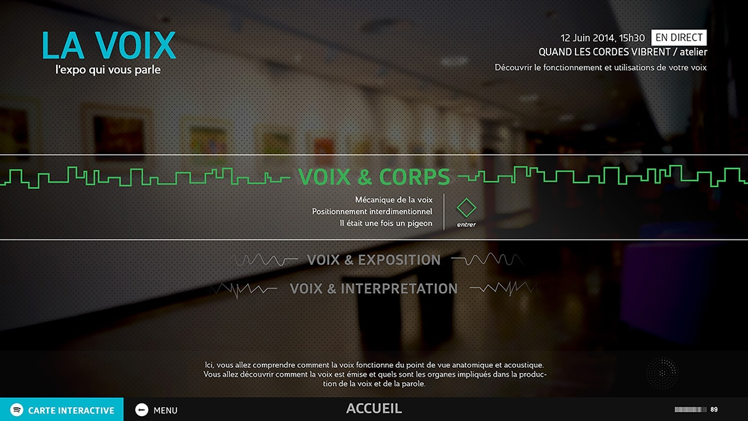 la voix application interactive
