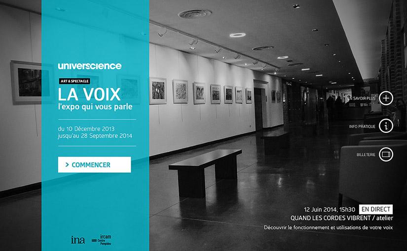 Application interactive / «Cité des sciences» / 3ème année web