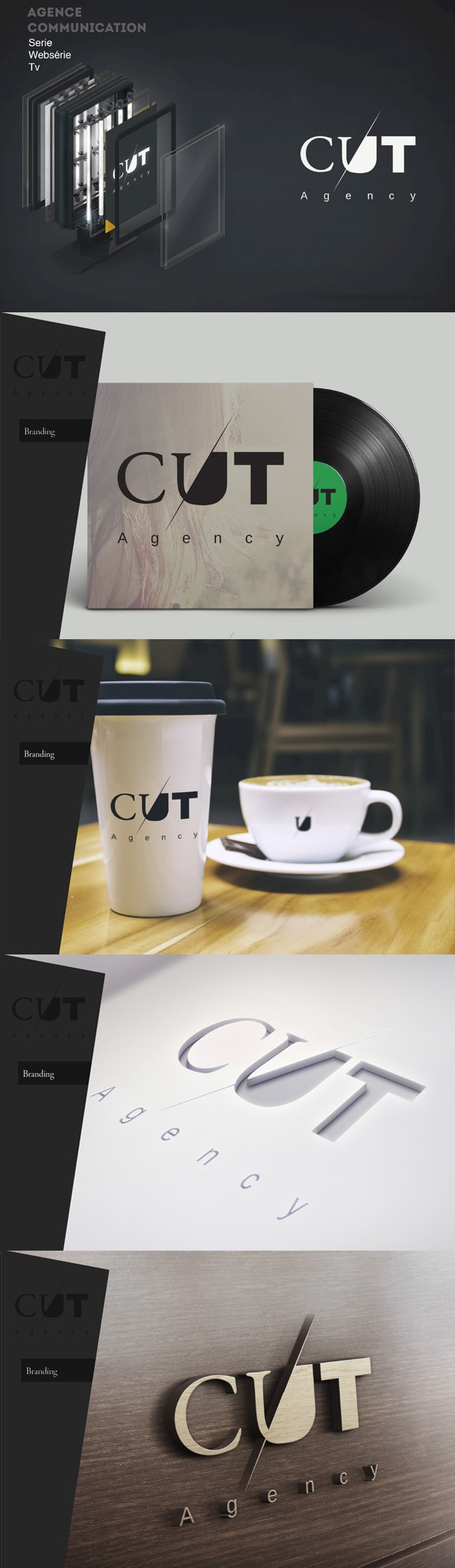 cut identité logo web agency