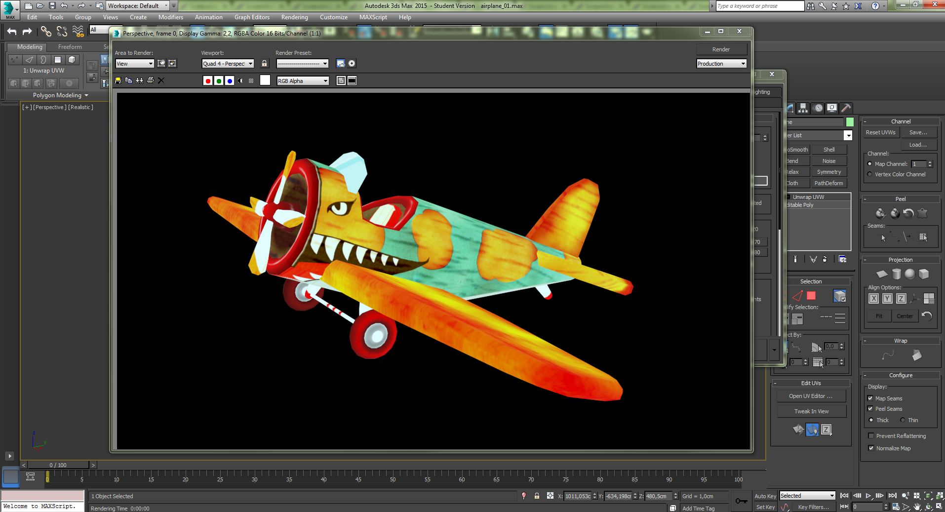 avion texture 3d 3dsmax