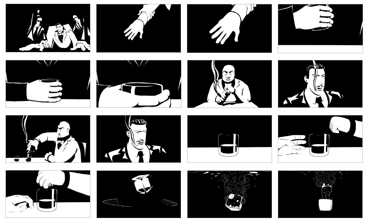 animation noir et blanc borges échecs