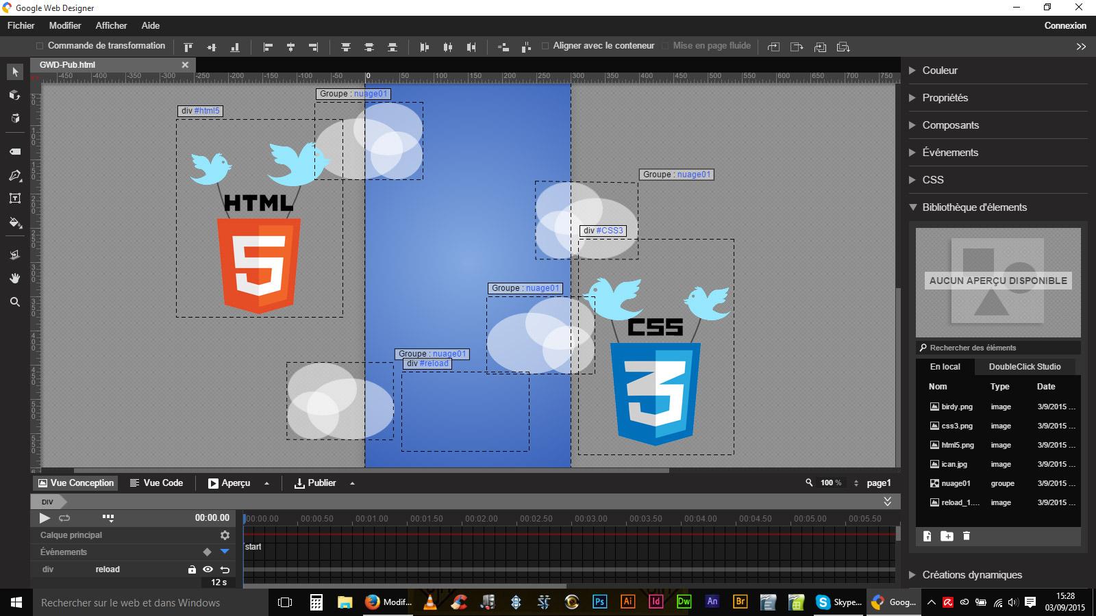 google web designer, animation web
