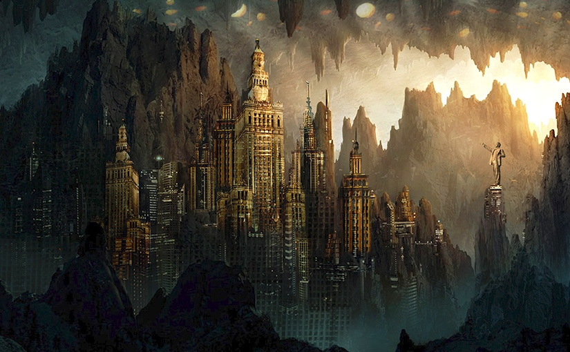Ville imaginaire / Matte painting / Animation 01