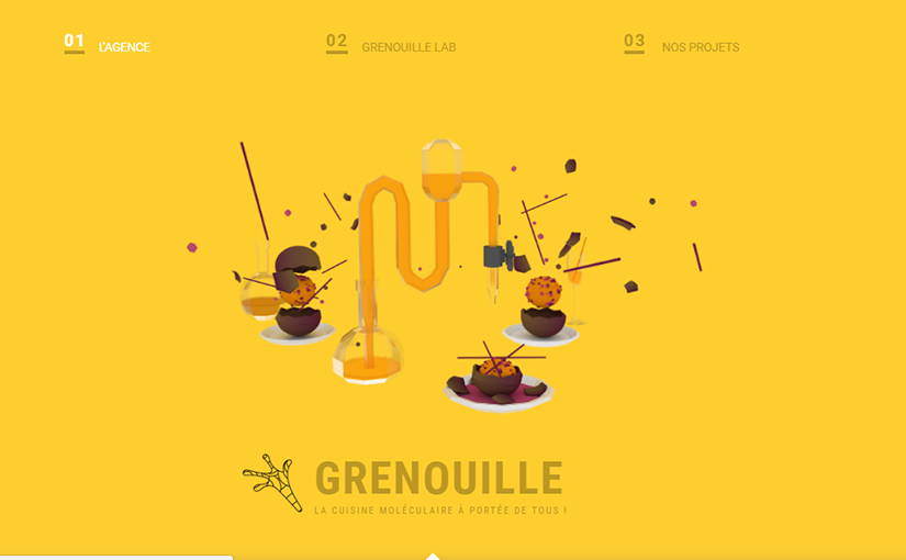 Agence Grenouille / 3e année Web design