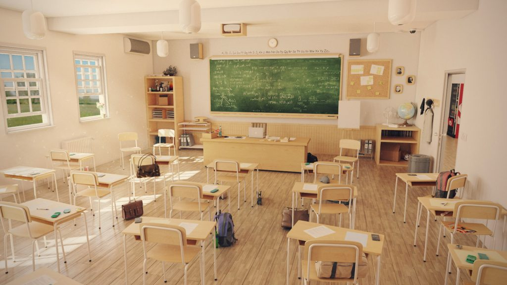 classroom 3d, salle 3d