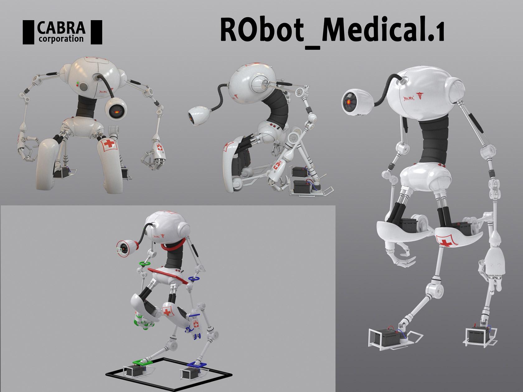 Robot, 3d, Romain GARCIA, ICAN
