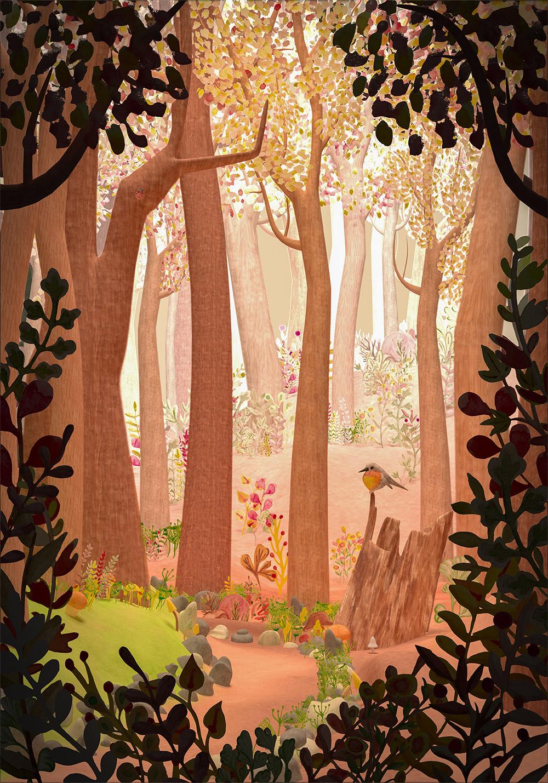 forêt animée