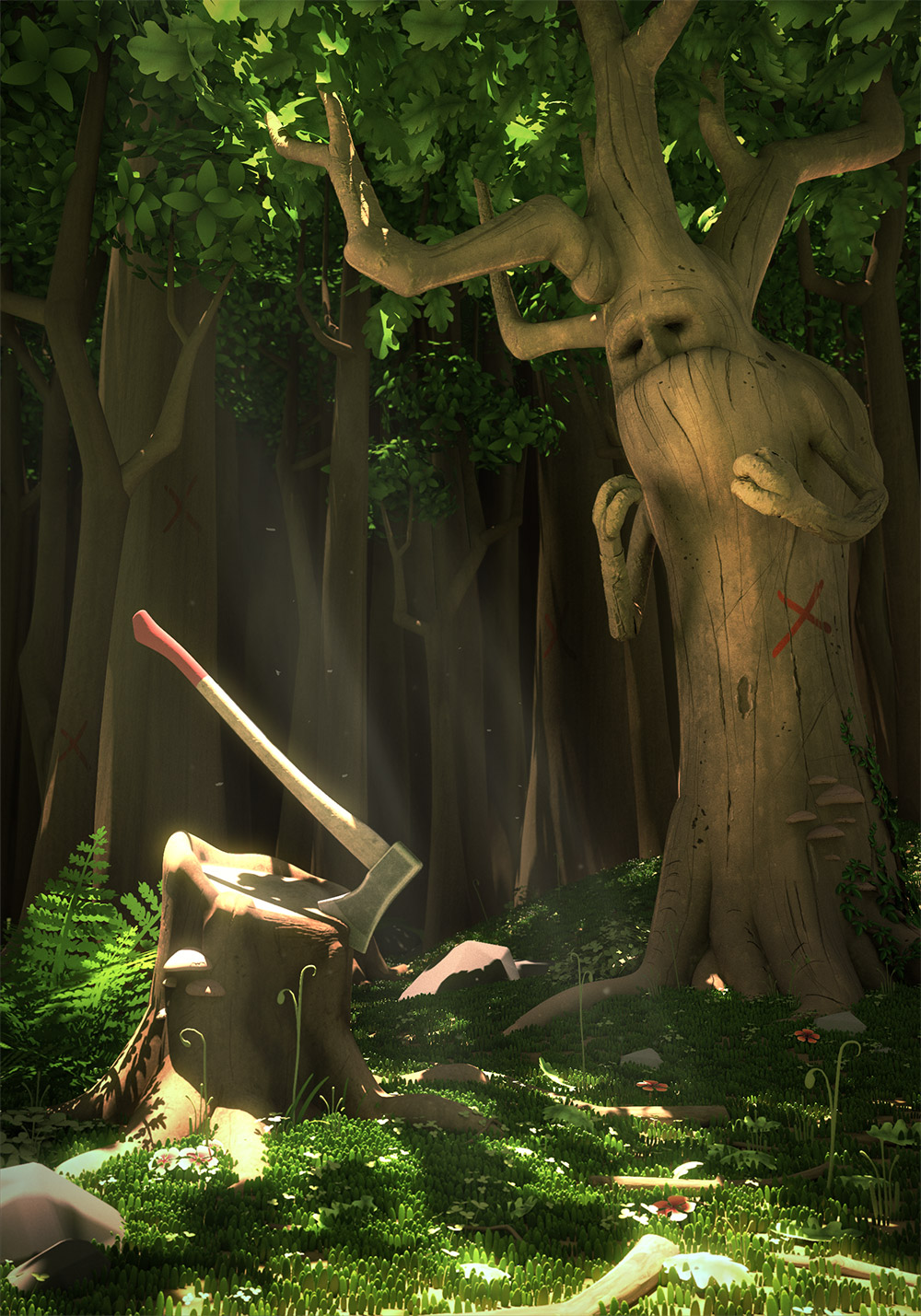 animation foret 3d