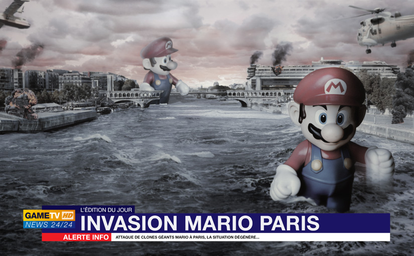 Mario… / Photoshop CC / Composition et photomontage