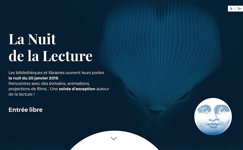 La nuit de la lecture – UX design / Web 03