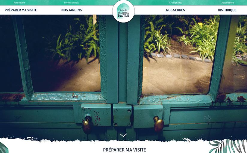 Le jardin des serres d'Auteuil / Web 03-15 mois