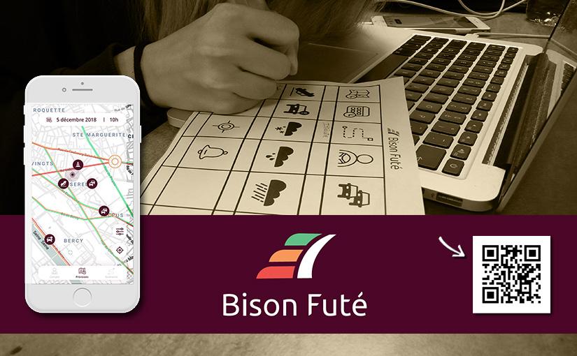 Application «Bison Futé» / Concept, Identité, UI-UX, Prototypage / Web 03-15 mois