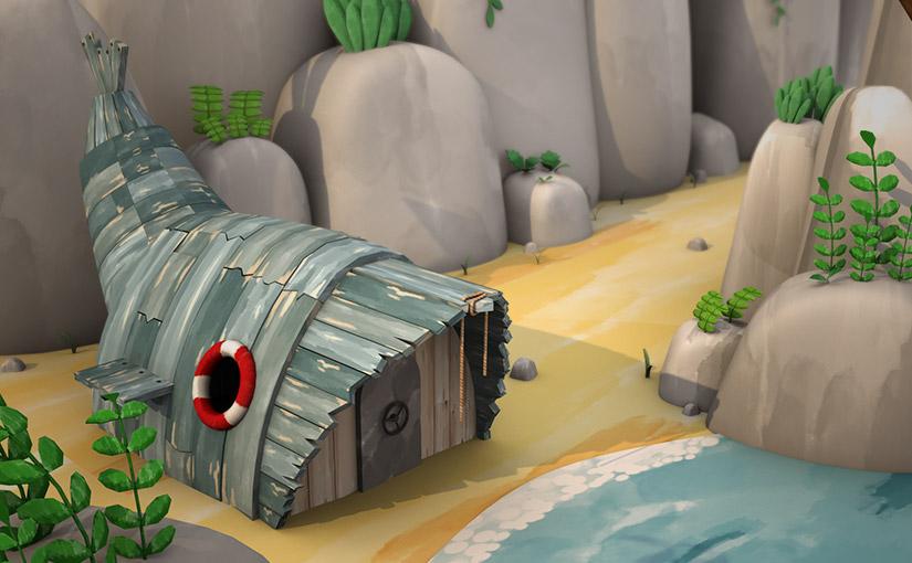 cabane, animation
