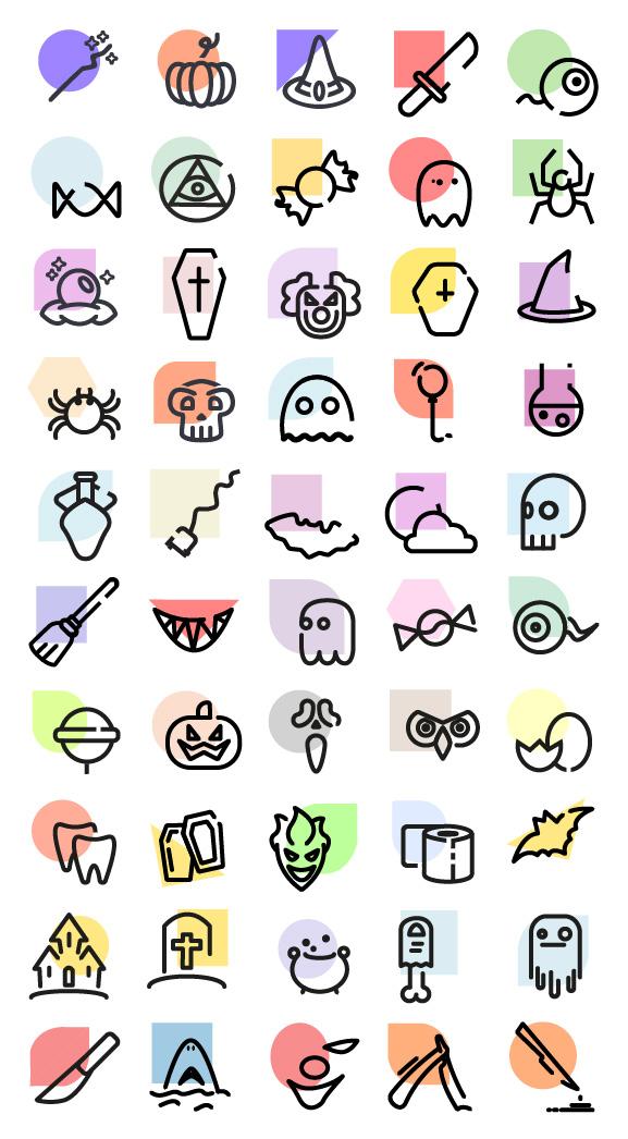halloween, icons