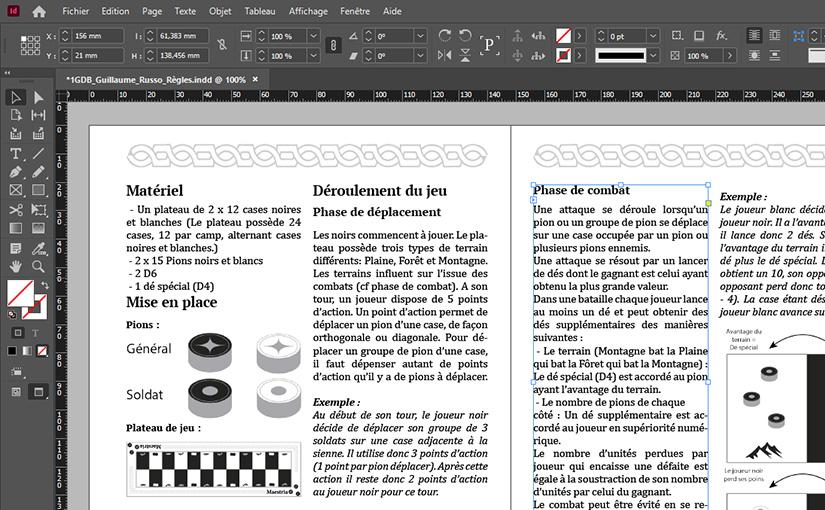 Livret de règles / Maestria / Game Design 01