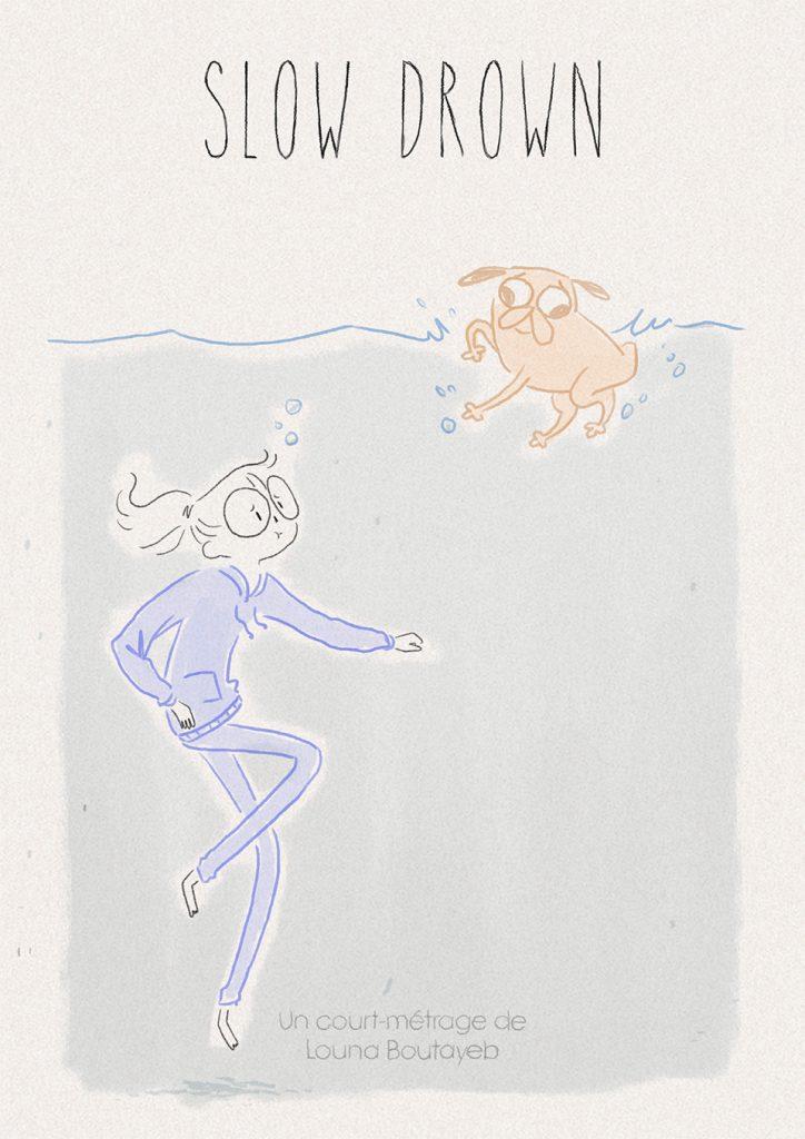 affiche clow drown louna boutayeb