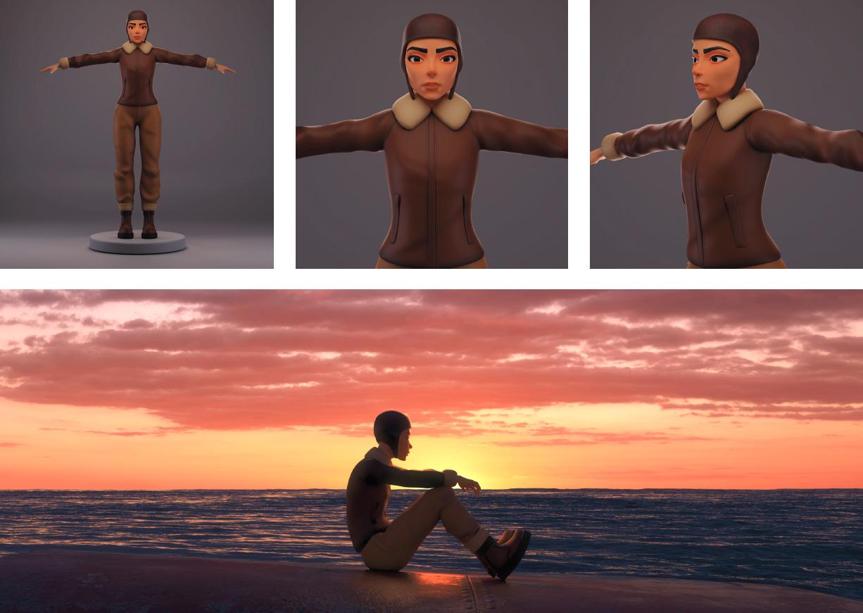 traversée, aviation, film animation